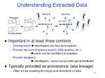 understanding extracted data