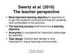 swertz et al 2010 the teacher perspective