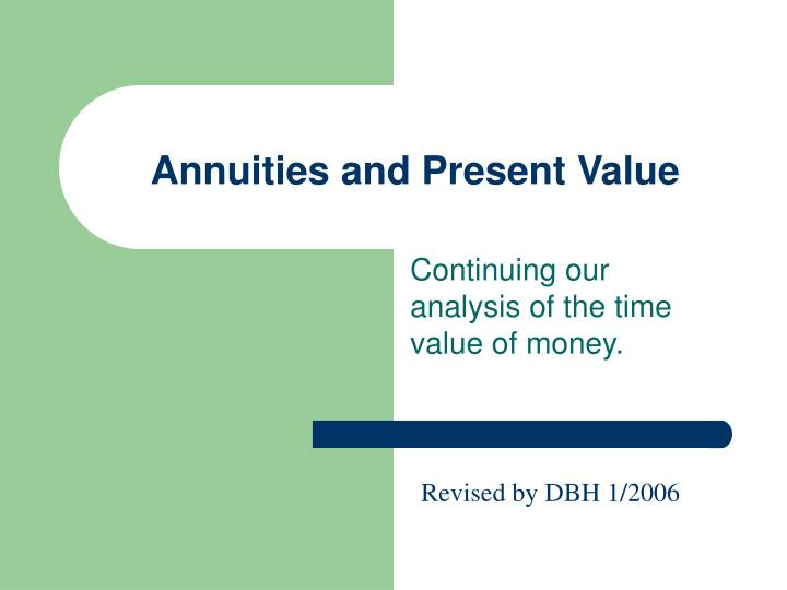 annuities and present value n.