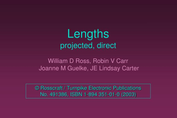 lengths projected direct n.