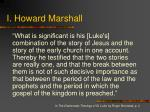 i howard marshall
