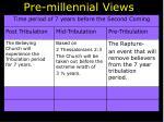 pre millennial views