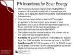 pa incentives for solar energy