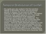 temporal distribution of rainfall1