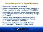 texas margin tax apportionment