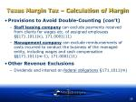 texas margin tax calculation of margin35