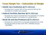 texas margin tax calculation of margin37