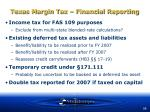 texas margin tax financial reporting