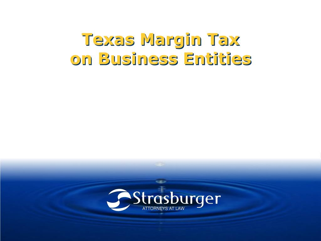 texas margin tax on business entities l.