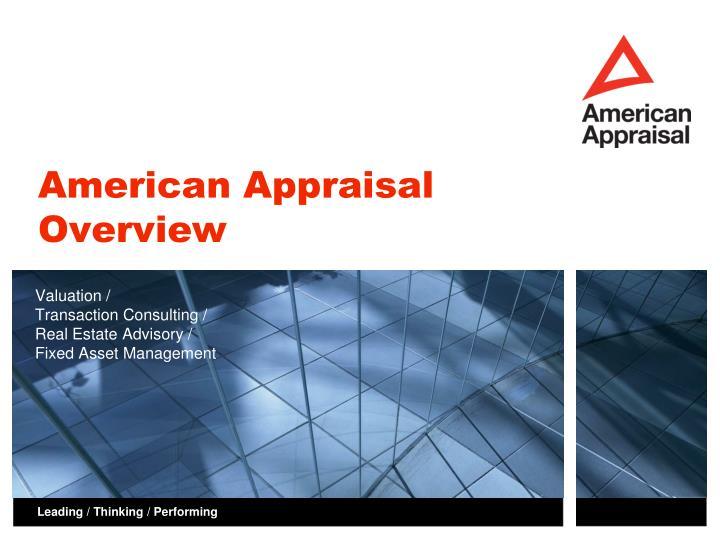 american appraisal overview n.