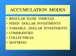 accumulation modes