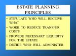 estate planning principles