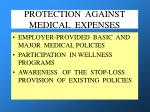 protection against medical expenses