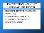 protection against premature death
