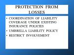 protection from losses