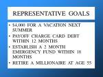representative goals