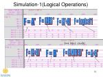 simulation 1 logical operations