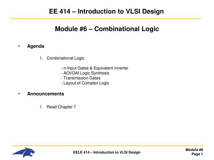 ee 414 introduction to vlsi design n.