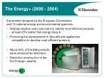 the energy 2000 2004