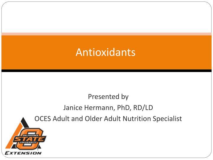 antioxidants n.