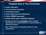 program area 2 fire prevention