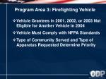 program area 3 firefighting vehicle