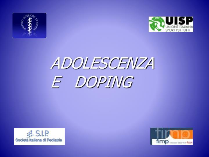 adolescenza e doping n.