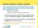 healthier employees healthier companies