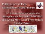 public access to early defibrillation pad program2