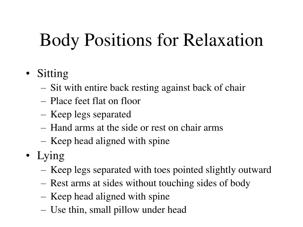Body Positions for Relaxation
