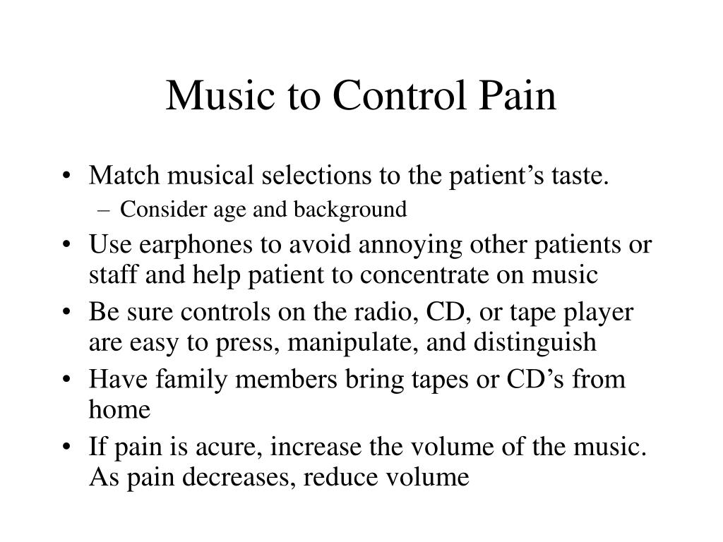 Music to Control Pain