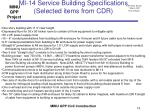 mi 14 service building specifications selected items from cdr