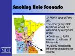 smoking hole scenario