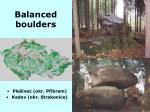balanced boulders