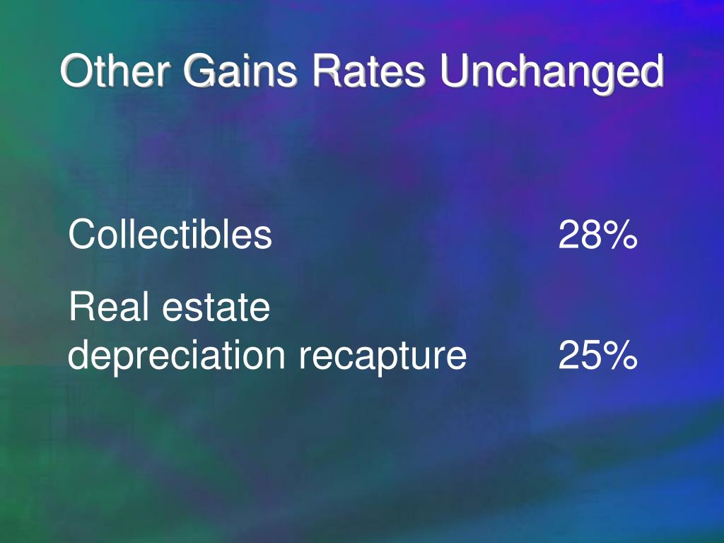 Other Gains Rates Unchanged
