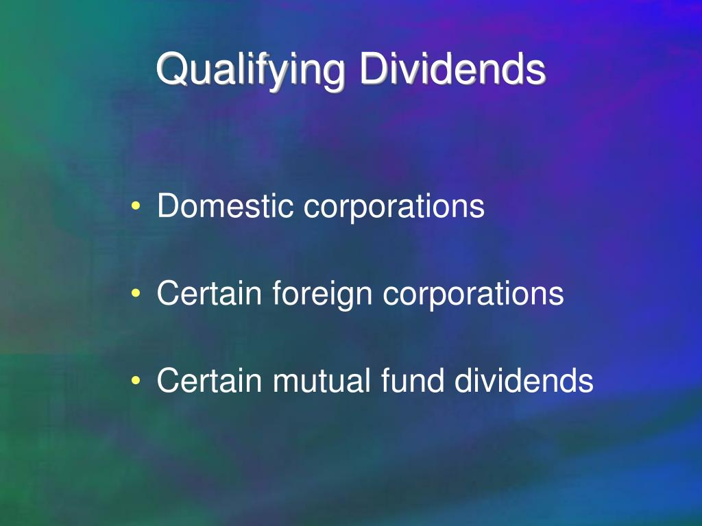 Qualifying Dividends