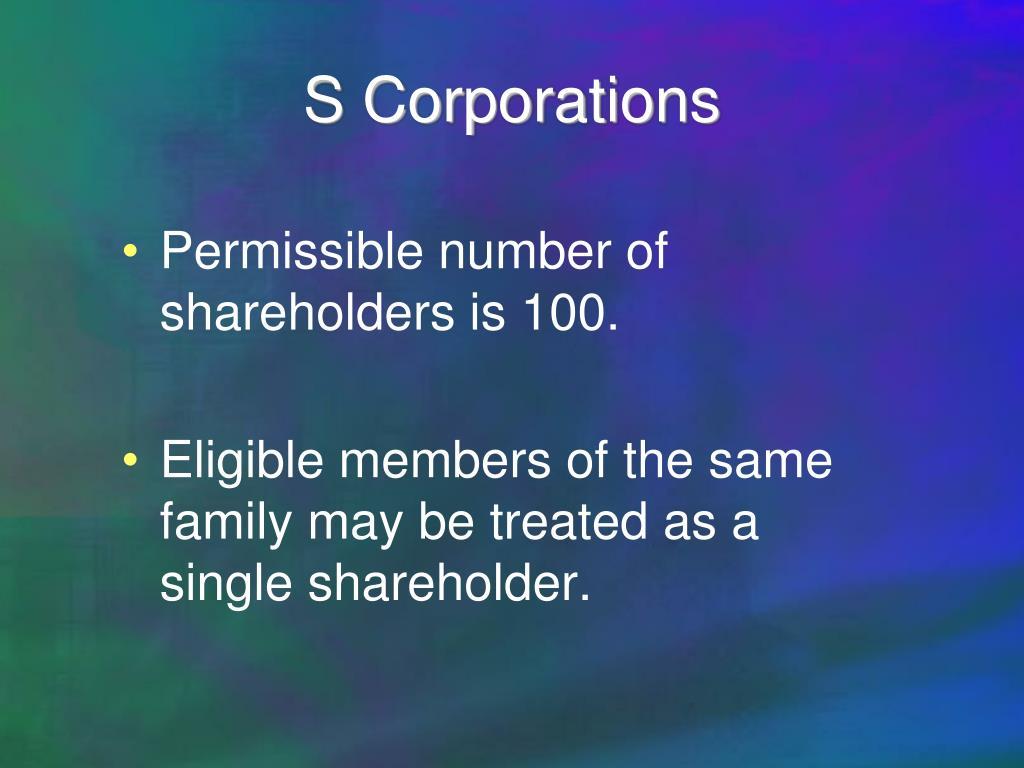 S Corporations