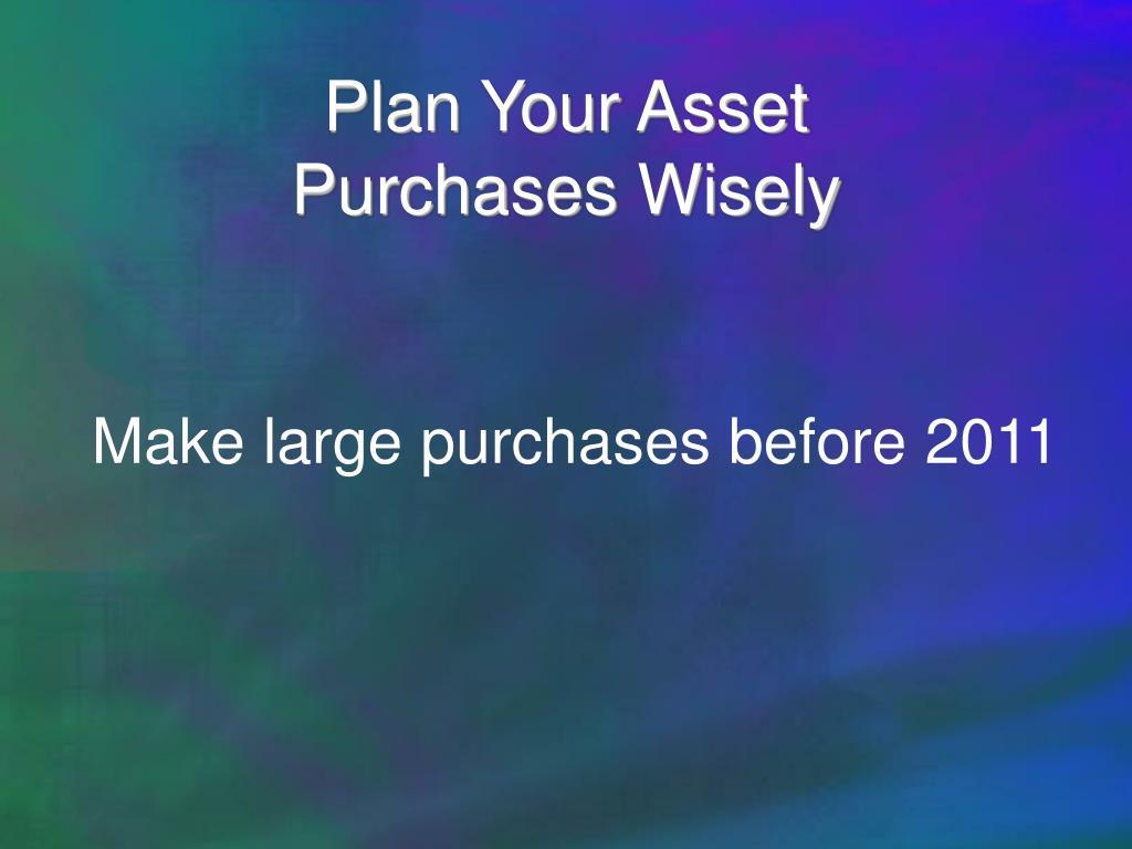 Plan Your Asset