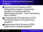 methods for solving fluid dynamics problems