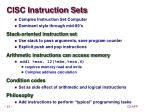 cisc instruction sets