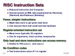 risc instruction sets