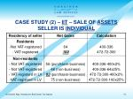 case study 2 iit sale of assets seller is individual