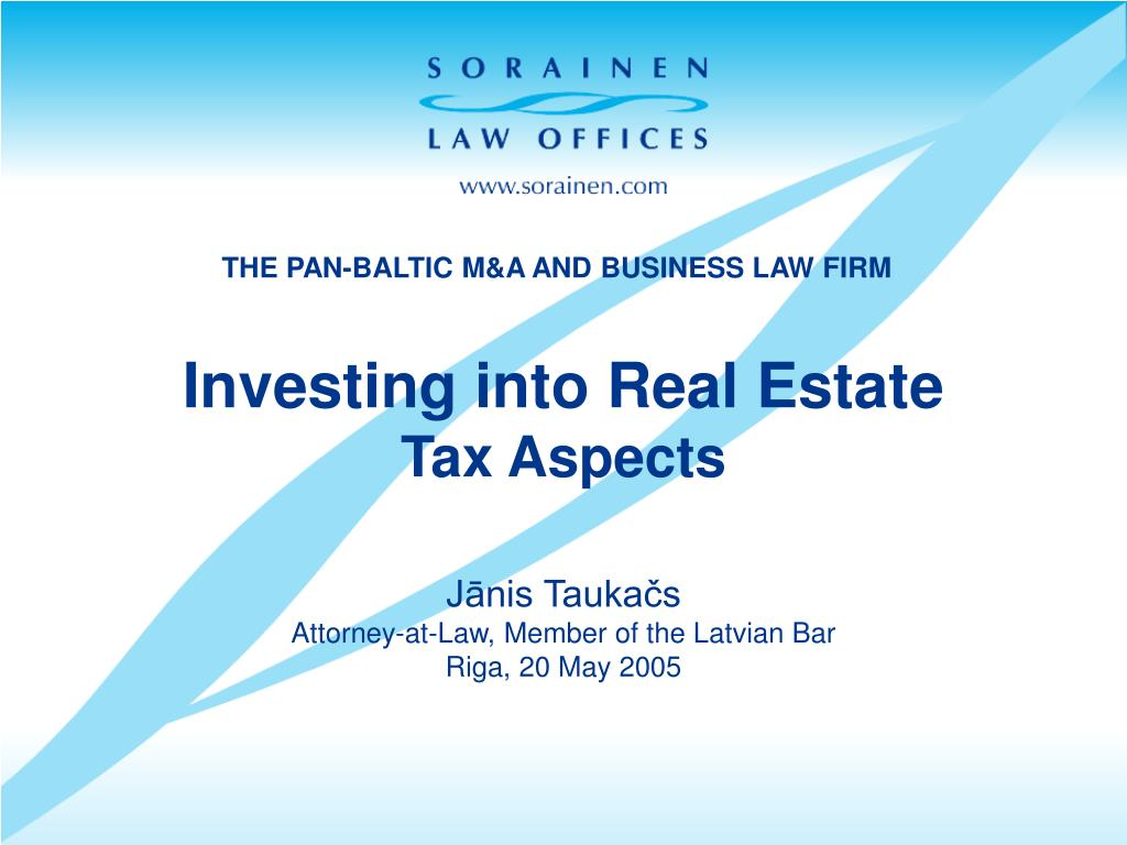 investing into real estate tax aspects l.