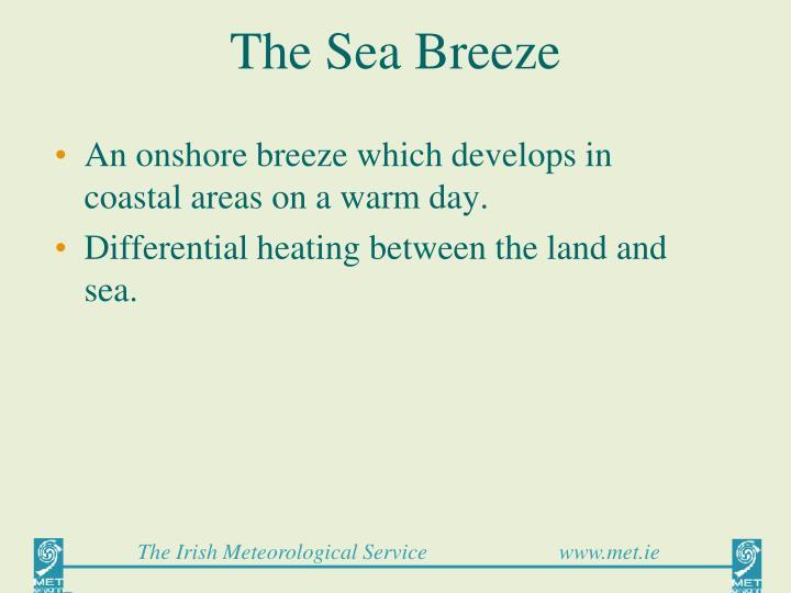 the sea breeze n.