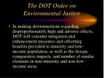 the dot order on environmental justice