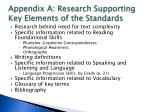 appendix a research supporting key elements of the standards