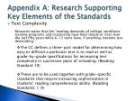 appendix a research supporting key elements of the standards1