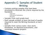 appendix c samples of student writing