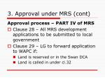 3 approval under mrs cont4