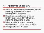 4 approval under lps